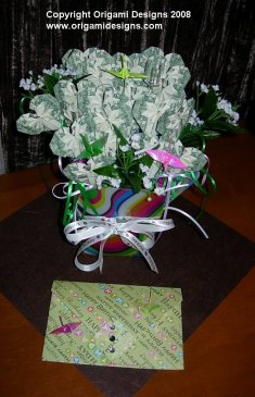 Money Hearts Bouquet with card