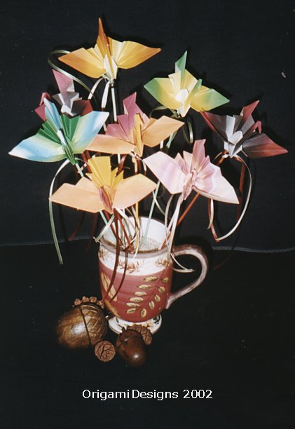 We will ship cranes on skewers for your table decorations...