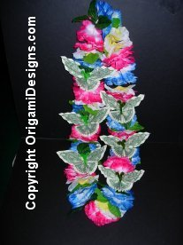 Multicolor flower & money butterfly lei