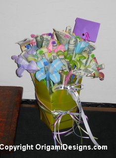 Flower Bouquet with Money Inserted