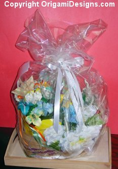 I ship basket bouquets sealed & wrappped