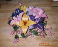 "These are ""giant"" Lilly blossoms folded from 10X10inch papers. Yes you can order these!"